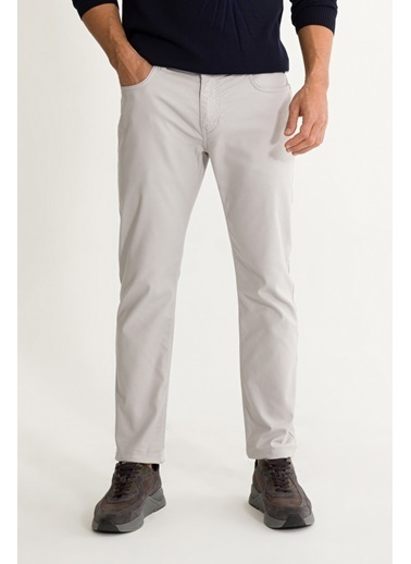 Avva Erkek  5 Cepli Armürlü Slim Fit Pantolon A01S3072 Gri